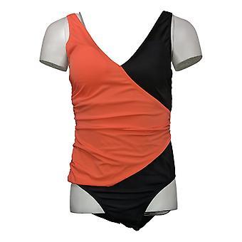 Colleen Lopez Swimsuit One Piece Colorblock Slim Suit Pink 735610