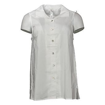 Marlawynne Women's Top Stretch Poplin Sleeveless Shirt White 693898