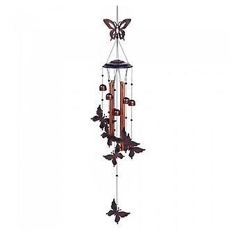 Summerfield Terrace Fluttering Butterflies Metal Wind Chimes, Pack of 1