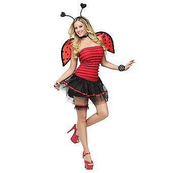 Fantasy Ladybug Ladybird Insect Fairy Fairytale Storybook Women Costume