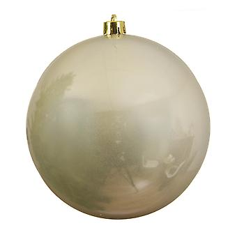 Single Pearl Gold 14cm Shatterproof Christmas Tree Bauble Decoration