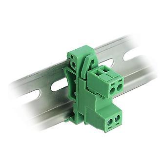 Juego de bloques de terminales de bloqueo para carril DIN de 2 pines con paso de 5,08 mm en ángulo
