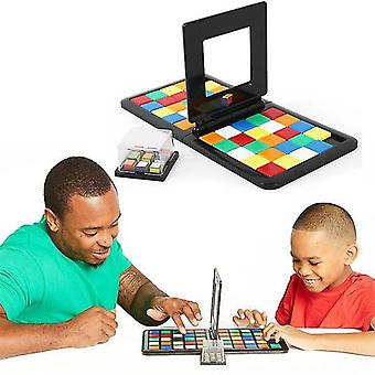 Interlocking blocks educational toys for kids color battle square race game parent child square desktop best christmas gifts