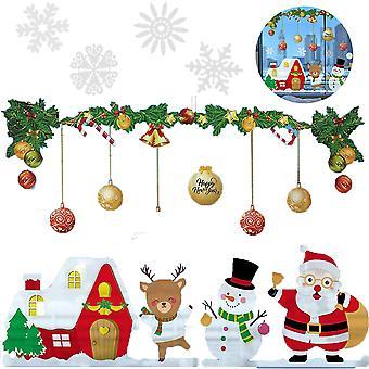 クリスマスウィンドウステッカー, ガラスクリスマスウィンドウの装飾用