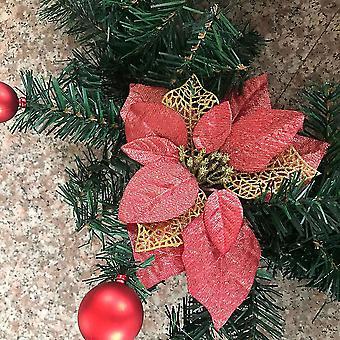 Mała czarownica Dekoracja świąteczna Wieniec Sztuczne winorośle kwiatowe z diodami LED