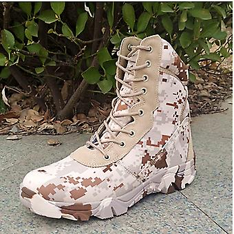 Desert Digital Tactical Military Boots Land Warfare Mountaineering Shoes 41# Within 251-255mmof The Foot Length
