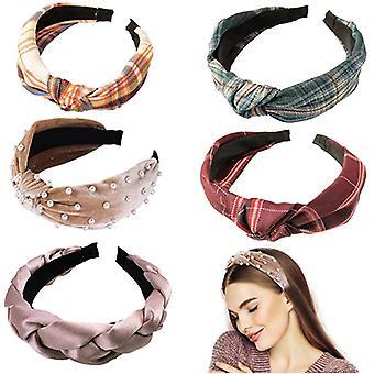 5-teiliges Stirnband, Accessoires, süßes Beauty Fashion Stirnband, Gesichtswäsche und Make-up