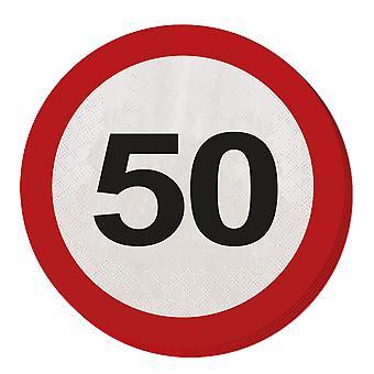 منديل المرور تسجيل حفلة عيد ميلاد علامة على شارع 20 رقم 50