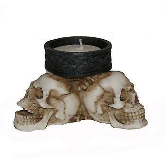 Nemesis now - celtic skull triad - t-light holer