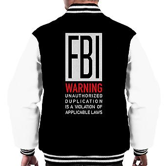 FBI Funny vita citat mäns Varsity jacka