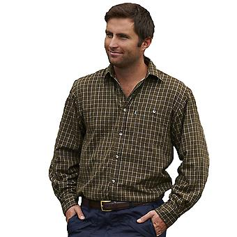 Champion Mens Milton Country Fleece Lined Long Sleeve Shirt