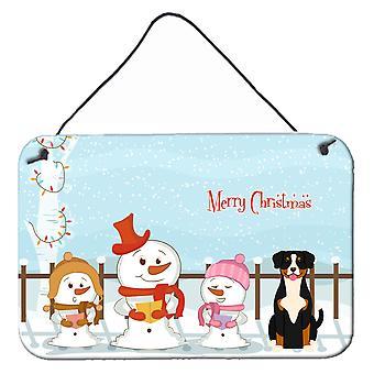 Merry Christmas Carolers Entlebucher Wall or Door Hanging Prints