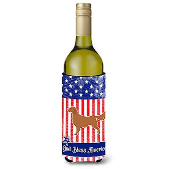 الولايات المتحدة الأمريكية الوطني الذهبي المسترد زجاجة النبيذ بيفيرجي عازل نعالها