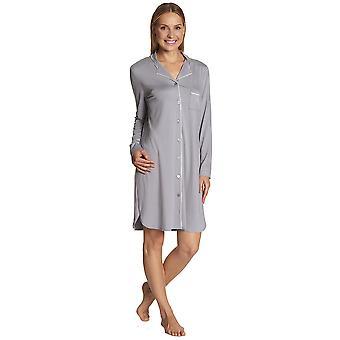 Féraud 3883031-10001 Women's Anthracite Grey Sleep Shirt Nighty Nightshirt