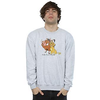 Disney Men's Classic Simba, Timon And Pumbaa Sweatshirt