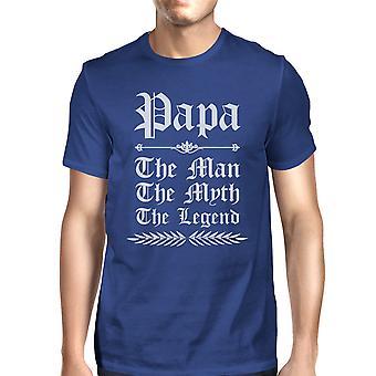 Vintage Gothic Papa miesten Royal Blue suosittu idoli isä t-paita huijaus