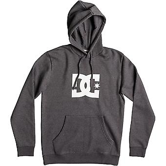 DC Star Pullover Hoody in Charcoal Heather/White