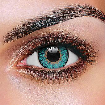 Aqua 3 Tone Color Contact Lenses (Pair)