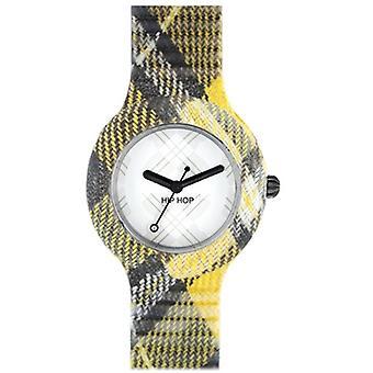 Hip Hop clock silicone Tartan small HWU0375 Edinburgh yellow