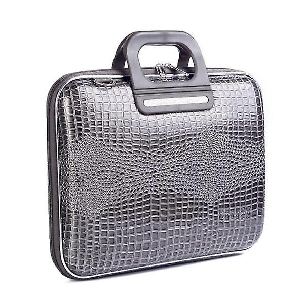 Bombata Bag SORRENTO Cocco Briefcase for 13 Inch Laptop by Fabio Guidoni - Gray