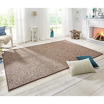 Design carpet wolly wool look Brown