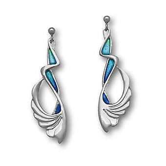 Sterling Silver Traditional Pat Cheney Design Pair of Earrings - EE748