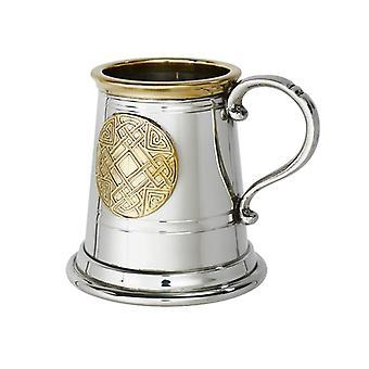Celtic Brass Badge Pewter Child's Tankard - � pint