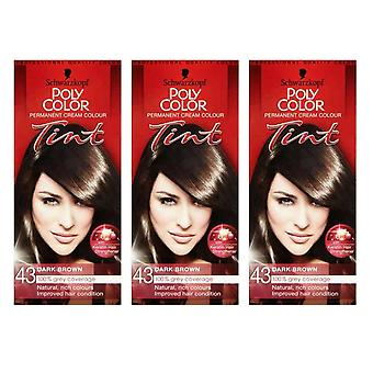 Schwarzkopf 3 X Poly Color Tint - Natural Dark Brown 43