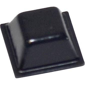 TOOLCRAFT PD2126SW pé autoadesivo, quadrado preto (L x W x H) 12,7 x 12,7 x 5,8 mm 1 computador (es)