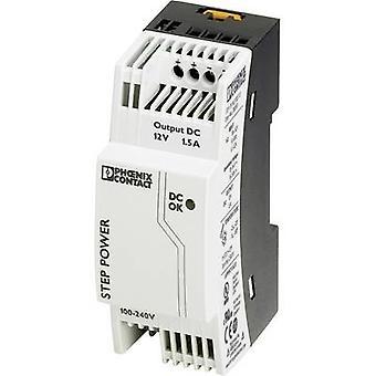 Phoenix Kontakt STEP-PS/1AC/12DC/1.5 Schienennetzteil (DIN) 12 V DC 1,65 A 18 W 1 x