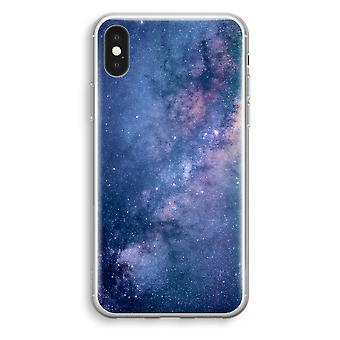 iPhone-XS Transparant Tasche (Soft) - Nebel