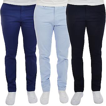 GANT Mens Tailored Pique Comfort Tapered Leg Pants Trousers Bottoms