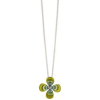 Ti2 Titanium Triple vier Petal bloem hanger - geel