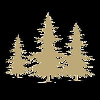 Ambiente-3 säikeinen paperipyyhkeistä, puu siluetti mustaa kultaa