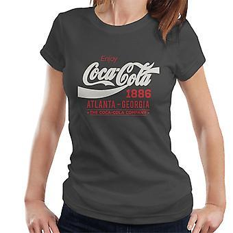 Coca Cola witte klassieke Logo Dames T-Shirt