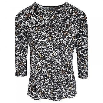 Betty Barclay Round Neck 3/4 Sleeve Floral Print Top
