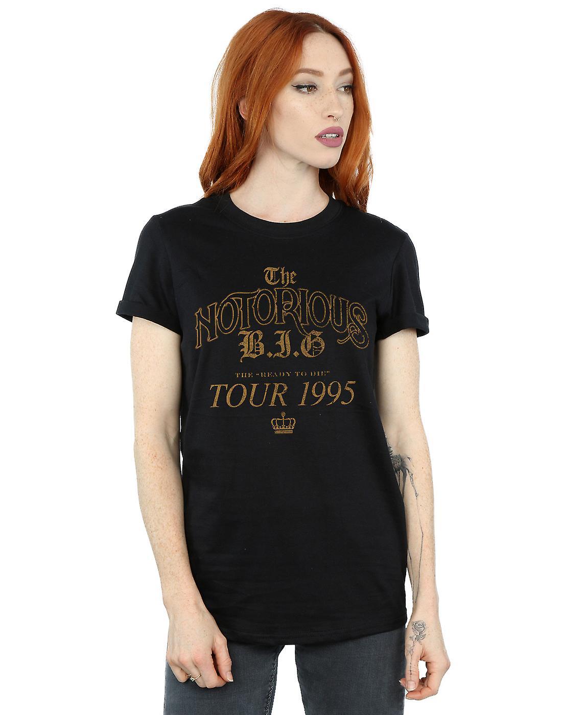 Notorious BIG Women's Tour 1995 Boyfriend Fit T-Shirt