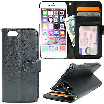 TOP Left-Handed Wallet Case For iPhone SE 7/8/2020, Black
