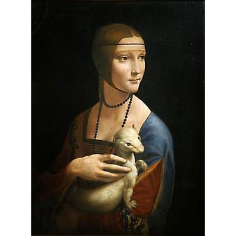 Cecila Gallerani, LEONARDO da Vinci, 54x40cm