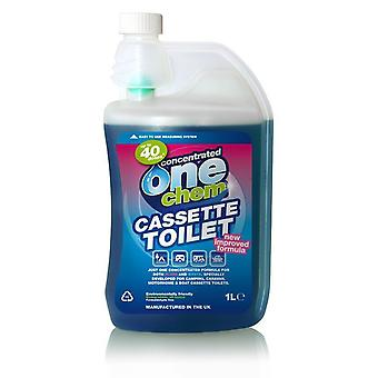 Cassette Toilet Treatment 1L Concentrate, Portable, biodegradable by One Chem