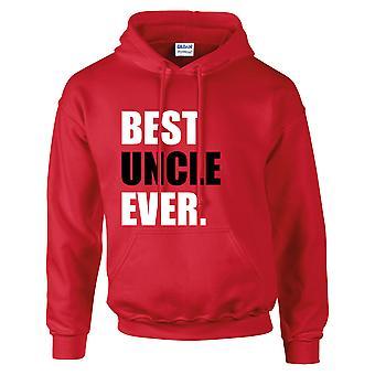 Meilleur oncle jamais Hoodie rouge à capuche