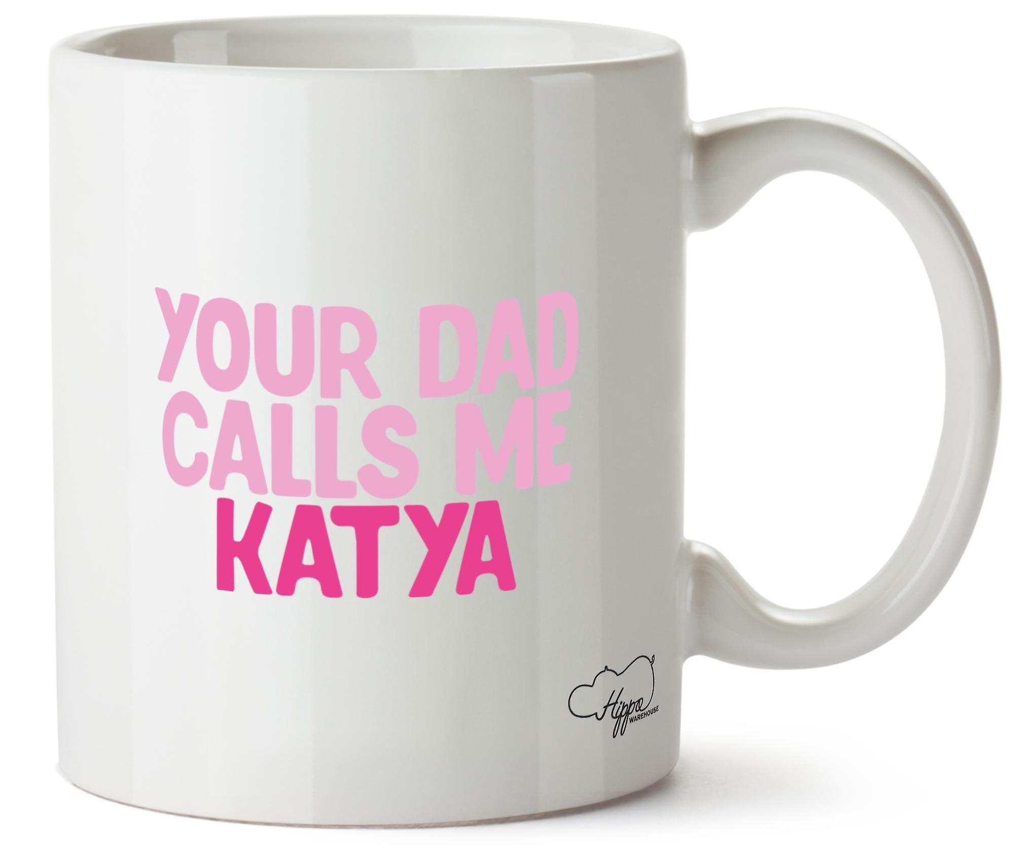 Hippowarehouse, ваш папа звонит мне Катя напечатаны Кубка керамическая кружка 10oz