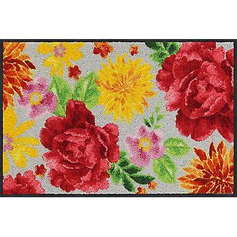 Salonloewe Fußmatte Big Roses spring waschbarer Türvorleger Läufer