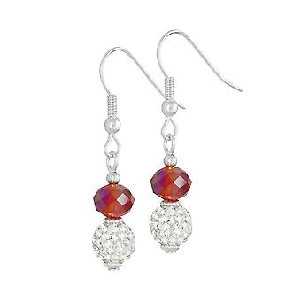Collection éternelle flamme majestueux cristal rouge Drop boucles d'oreilles