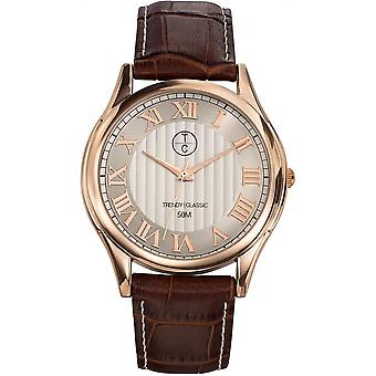Watch Trendy Classic CG1003-08 - man round brown leather