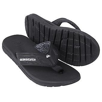 Quiksilver Mens Flow sandalen - zwart/grijs