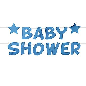 Little Star Blue Baby Shower Foil Bunting 2.5m