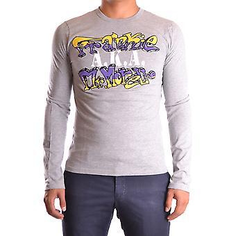 Frankie Morello Ezbc167060 Men-apos;s Grey Cotton Sweater