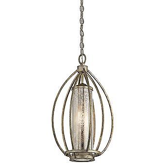 Elstead - 1 Light Pendant - Sterling Gold Finish - KL/ROSALIE/P