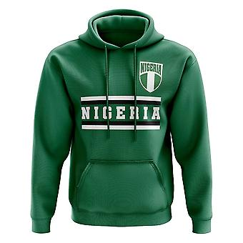 Nigeria Core Football Country felpa con cappuccio (verde)